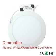 3W 4W 6W 9W 12W 15W 25W Ultra thin LED Panel Light Recessed LED Ceiling Downlight 85-265V Warm/Cold White indoor light,1 piece стоимость
