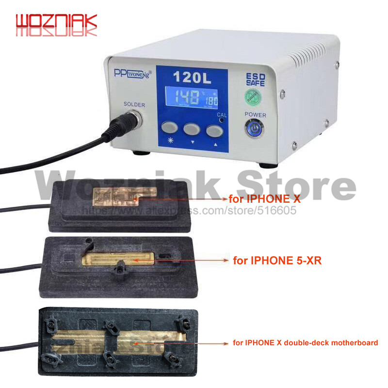 Wozniak PPD 120L Desoldering Rework Station Unsolder Remove Welding Platfor stůl pro iPhone CPU Chip A8 A9 A10 A11