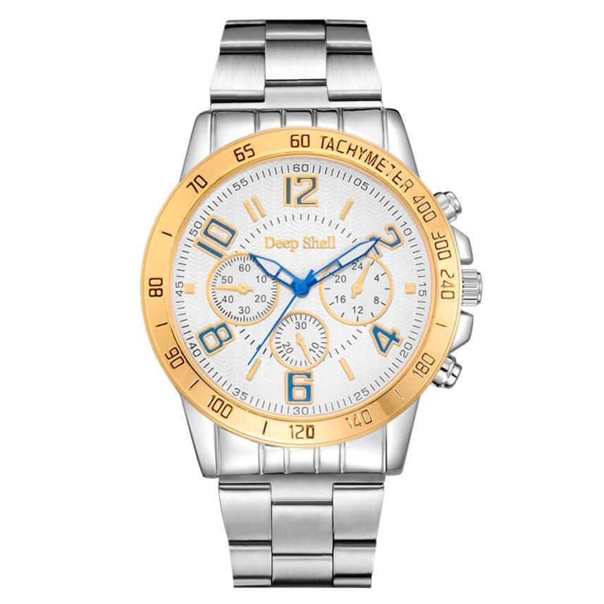Watch Men Stainless Steel Mens Business Analog Quartz Wrist Clock Gift Watches 17NOV13