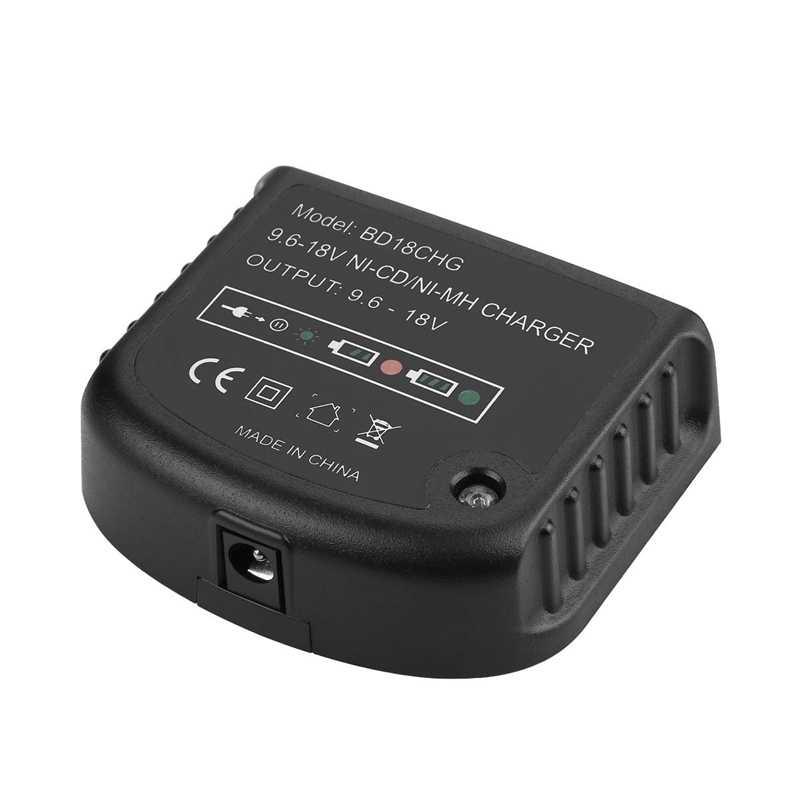9.6 فولت-18 فولت متعددة شاحن بطارية فولت ل بلاك اند ديكر ني-سد ني-م بطارية Hpb18 Hpb18-Ope Hpb12 Hpb14 Fsb14 Fsb18 Fs120Bx Us Pl