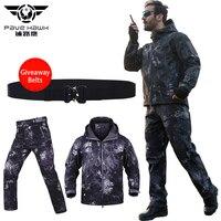 Winter Waterproof Work Wear Uniforms Men's Sets Warm Hoodies Military Jackets Men Army Pants Tactical Jacket Suit Coat Clothes