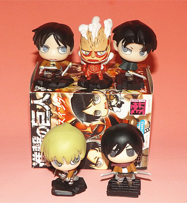 5pcs/set Anime Attack on Titan PVC Collection Model Toy