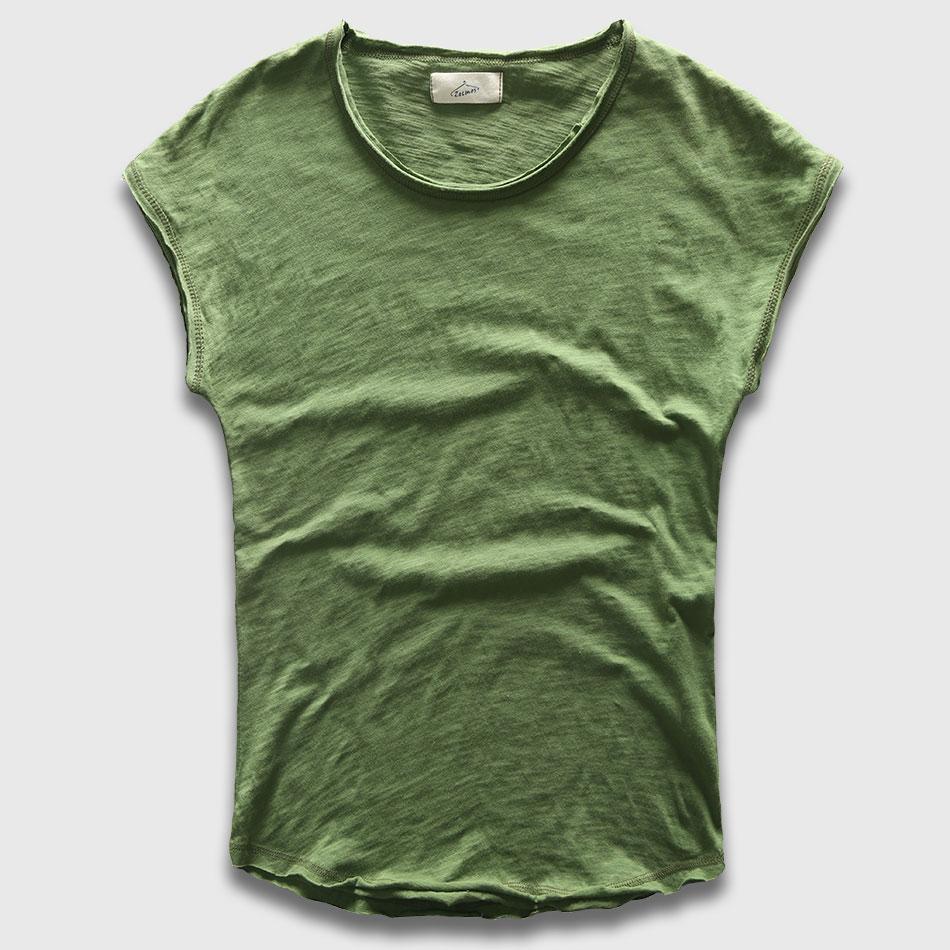 Hommes T-Shirt De Mode Ras Du Cou Sans Manches Plaine T-shirts Hommes Butin Hip Hop De Base Mâle Top T-shirts Chemises