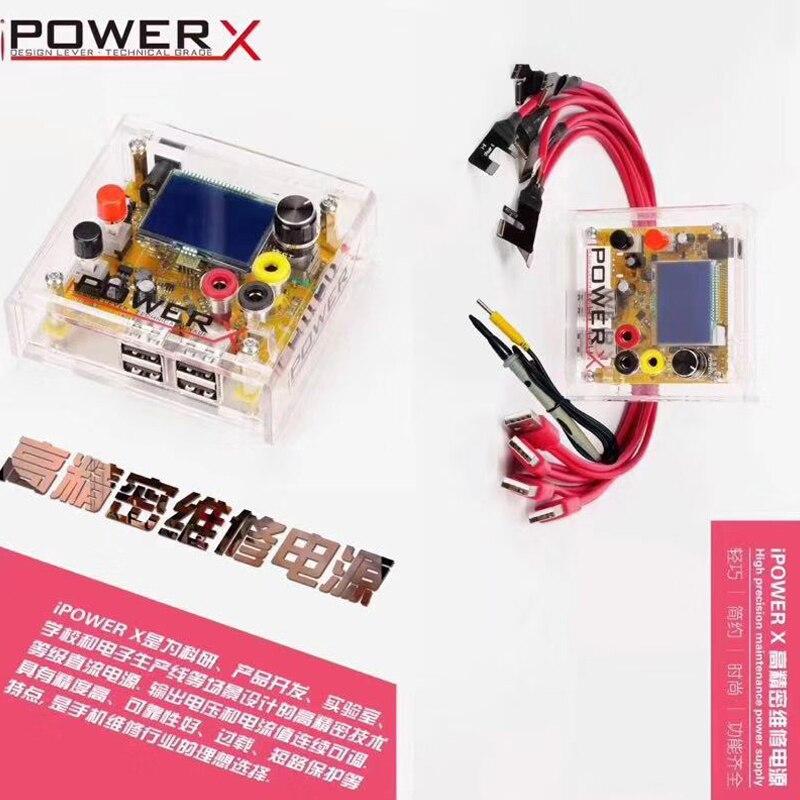 IPOWER X Box haute précision DC à DC alimentation tension testeur entrée pour iphone câble de démarrage 6 7 8 8P X un bouton démarrage rapide