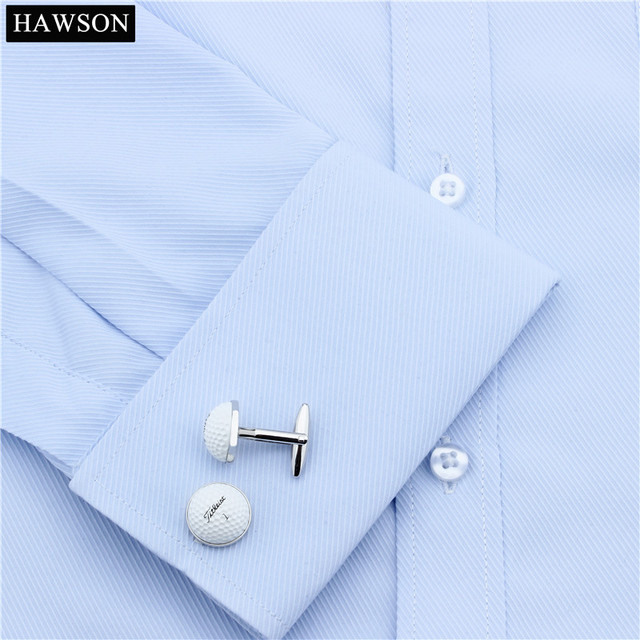 HAWSON Sport Theme Cufflinks Golf Ball Special Design for Golf Enthusiasts Cuff Links for French Cuffs/Shirts Thoughtful Gift 2