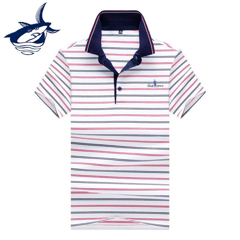 Polo   Shirt Men Clothes 2018 Summer Tops & Tees Tace Shark Brand camisa   polo   Striped European Style Leisure   polos   shirts