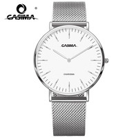 2018 New Fashion Casual Watch Simple Two Hands Quartz Women Swatch Nylon Leather Strap Waterproof Ladies