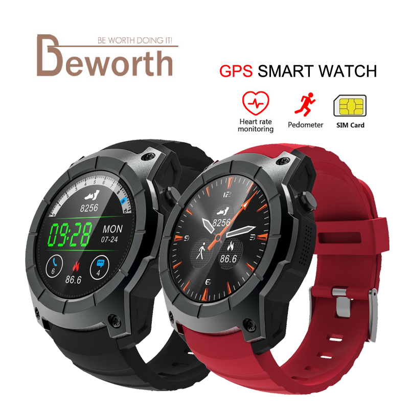 S958 GPS Smart Watch Heart Rate Monitor Sports Waterproof SIM Card Communication Bluetooth 4.0 Smartwatch for Android IOS Phone 2017 new gps smart watch sport waterproof heart rate monitor dial call 2g sim card all compatible smartwatch for android ios