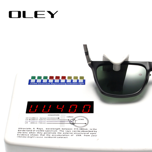 OLEY Lightweight Aluminum-Magnesium Polarized Men Sunglasses Women HD Color Silm Square Sun Glasses Summer Goggles YA436
