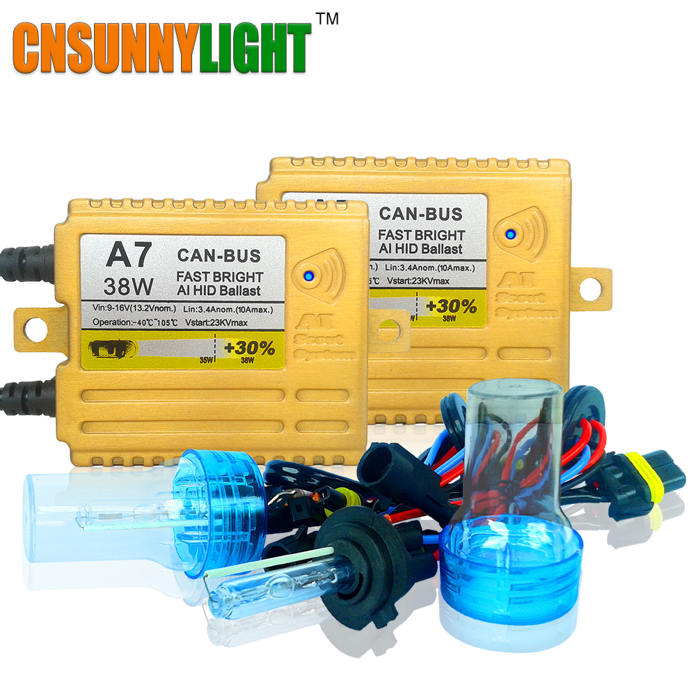 CNSUNNYLIGHT 38W XENON HID KIT CANBUS QUICK START BRIGHT SMART BALLAST ALL COLORS 4300K 6000K REPLACEMENT BULB H1 H3 H4 H7 H11 cnsunnylight 38w xenon hid kit canbus quick start bright smart ballast all colors 4300k 6000k replacement bulb h1 h3 h4 h7 h11