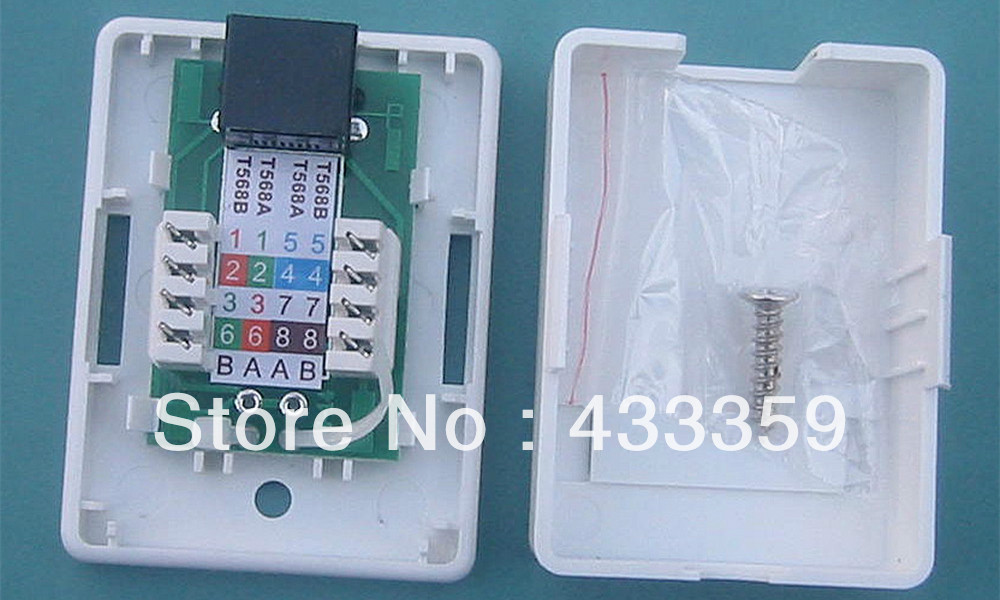 Free shipping single port rj45 cat5e wall mount junction box in free shipping single port rj45 cat5e wall mount junction box in connectors from home improvement on aliexpress alibaba group sciox Choice Image