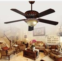 52 дюймов потолок огни вентилятор европейские антикварные потолочных вентиляторов Американский потолочный огни потолочный вентилятор све