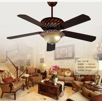 52inch ceiling lights fan European antique ceiling fans American ceiling lights ceiling fan light with remote control