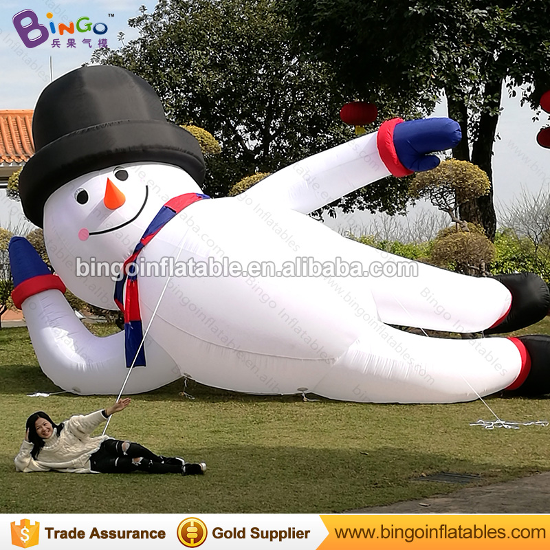 Free shipping Christmas Lying down type Inflatable Snowman Model Outdoor Decorative 6M long blow up Snowman Replicas Toys inflatable cartoon customized advertising giant christmas inflatable santa claus for christmas outdoor decoration