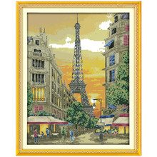 The Iron Tower with Sunset Counted Cross Stitch 11CT 14CT Cross Stitch Sets Wholesale Cross-stitch Kits Embroidery Needlework(China)