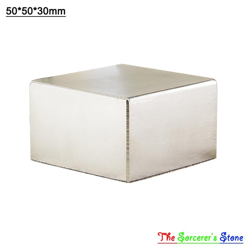 2pcs Super Strong 50x50x30mm Rare Earth Neodymium Block Magnet N52 Free Shipping free shipping sop32 wide body test seat ots 32 1 27 16 soic32 burn block programming block adapter