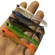 1 шт., джиг-голова, Мягкая наживка, 7 см, 2,8 г, искусственная рыболовная наживка, открытая лопатка для живота, хвост, плавающая приманка, резиновая рыбка