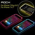 ROCK Полу-Прозрачный Блестящий серии Вызов свет примечание case для iPhone 7 plus для iphone 7 case тпу pc прозрачный