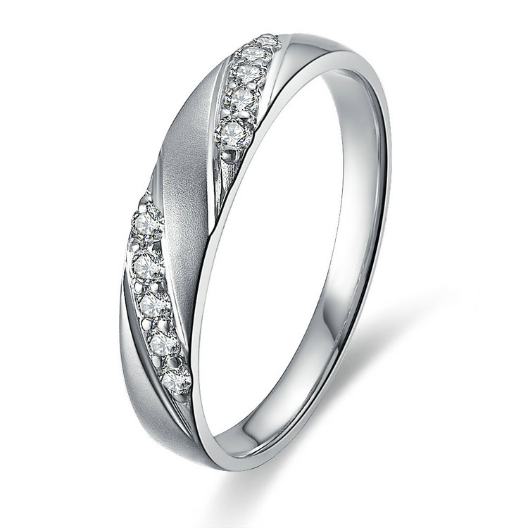 s band sh floating an single diamond bands white gold womens women wedding jewellery
