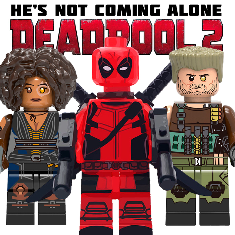 Deadpool 2 Marvel Universe Lego Moc Minifigure Gift For Kids Series 2 Domino