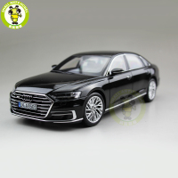1/18 Audi A8 L 2018 Diecast Metal Car Model Toys for Kids Gift Hobby Collection Black