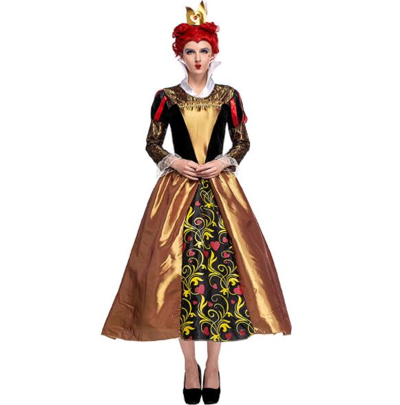 High Quality Alice In Wonderland The Red Queen costume dress adult women Halloween Cosplay Costume