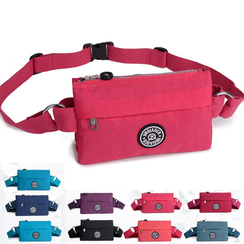 JINQIAOER Women Belt Bag Waterproof Nylon Banana Waist Bag Women Fanny Pack Mini Chest Bag Pochete In Waist Pack Bum Bag Heuptas