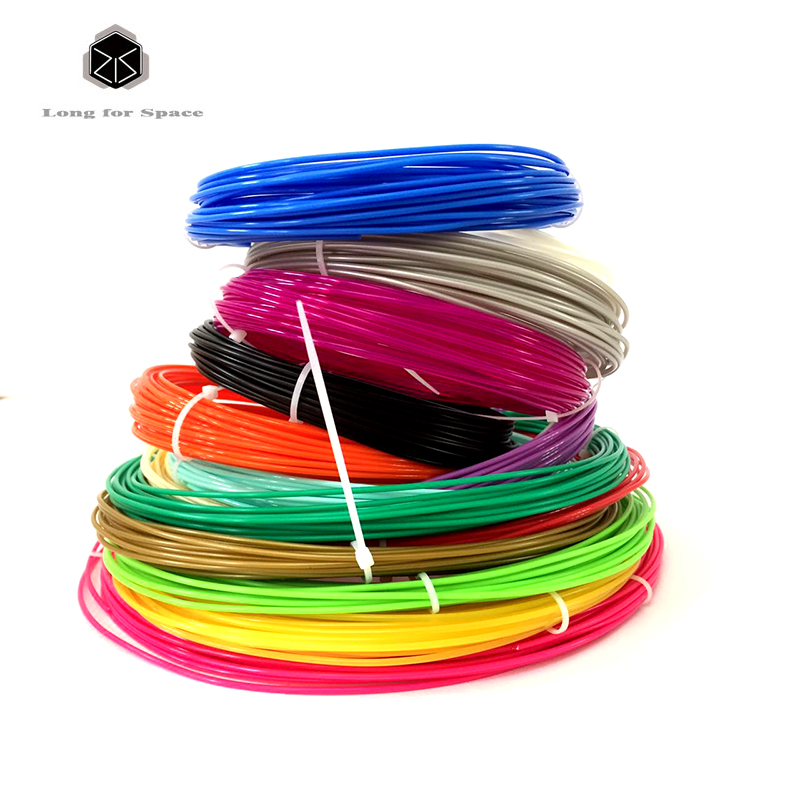 2017 New Free Shipping 20Pieces/lot 3D Printer PLA Filament 20 Colors 1.75mm PLA 3D Print Filament For 3D Printer Or 3D Pen tronxy 1 75mm pla filament for 3d printer