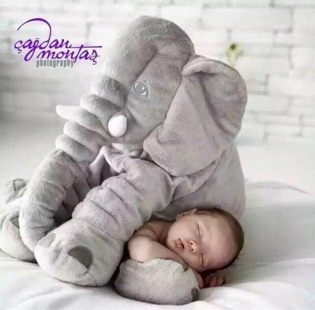 Hot newborn photography props pillow long nose elephant doll pillow soft plush stuff toys lumbar pillow