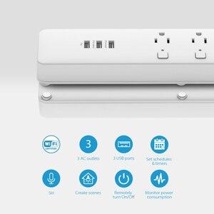 Image 3 - Koogeek tomada inteligente, individualmente controlada, wi fi, tomada de energia, com 3 portas de carregamento usb para apple homekit, controle remoto