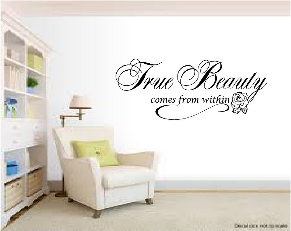 Beauty Salon Wall Decal Quote True Inspirational Beautiful Sticker Room Hair Decoration In Stickers From Home