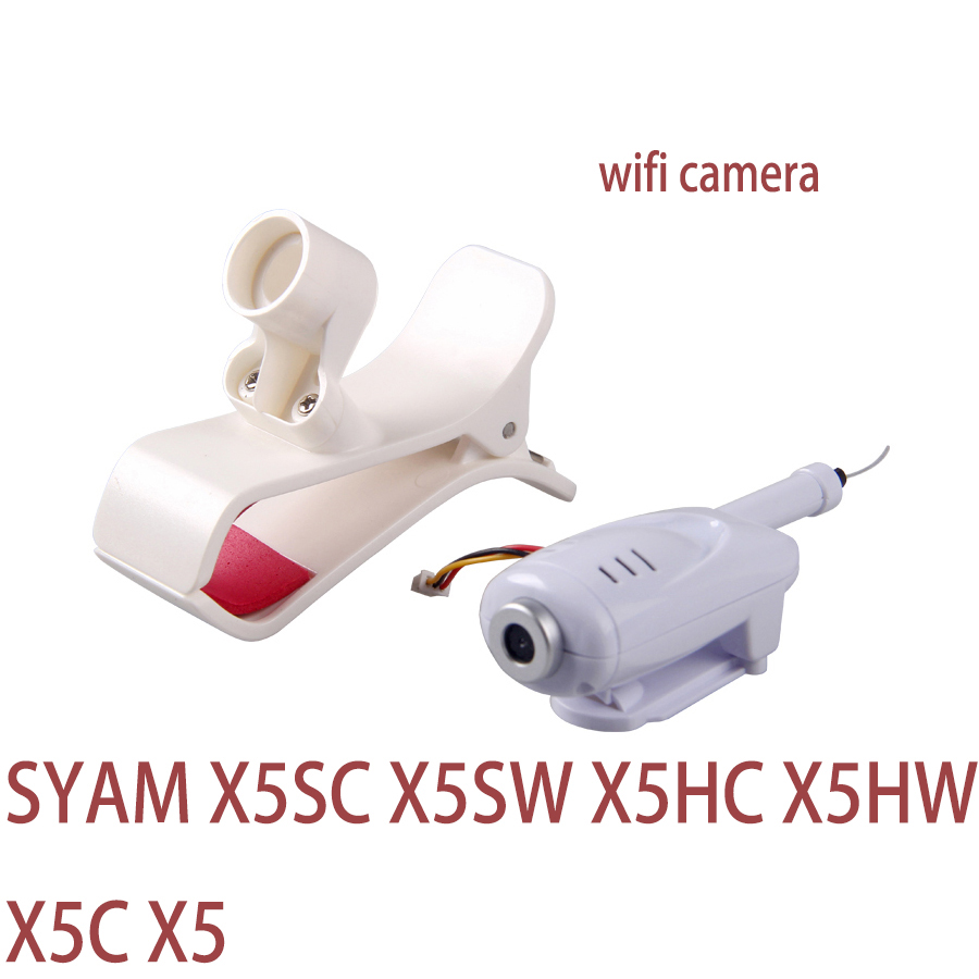 SYMA X5 Series Wifi Camera And Phone Clip Holder For X5C X5 X5C X5HC X5HW FPV Drone Parts Accessory mobile phone holder clip mount for syma x5c x5sw x5hw x8hw x8w x8c x8g quadcopter parts accessory drone spare parts