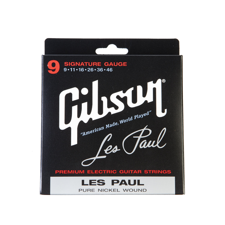 Gibson SEG-LP9 for Les Paul Signature Nickel Plated Electric Guitar Strings, Extra Light 09-42