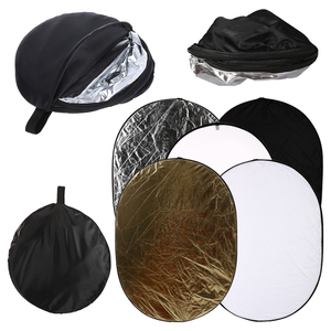 Image 2 - 5 in 1 Portable 24 Inch x 36 Inch/60cm x 90cm Oval Collapsible Multi Disc Photography Studio Photo Camera Lighting Reflector