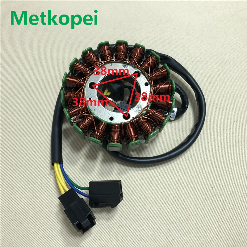 Motorcycle GN125 GS125 18 Pole 5 Wire Magneto Stator Coil Generator For Suzuki 125cc GN GS 125 Inner Rotor Ignition Foot Starter