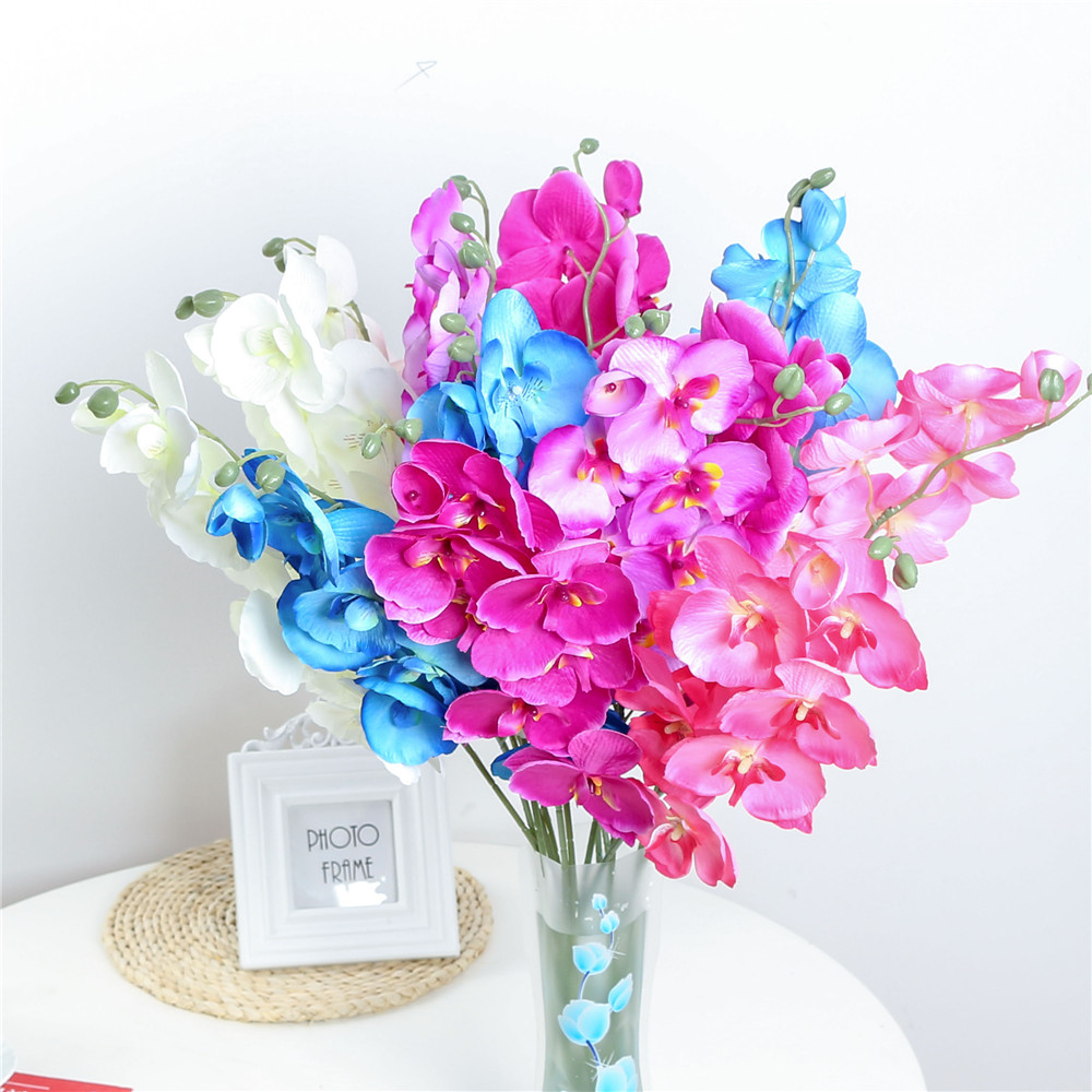 1 Pc Fashion Orchid Artificial Flowers Diy Artificial Butterfly