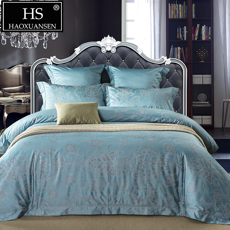 650TC Paisley Jacquard Bedding Set Egyptian Cotton Yarn Dyed Baroque High Quality Sheets Duvet Cover Pillowcase Queen King Size