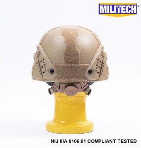Image 5 - MILITECH Desert Tan DE MICH NIJ level IIIA 3A Tactical Bulletproof Aramid Helmet ACH ARC OCC Dial Liner Aramid Ballistic Helmet