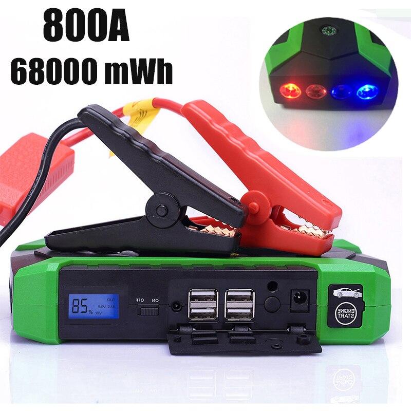 800A Car Battery Jump Starter 68000mWh Power Bank 12V Auto Emergency Start Device 800A Car Battery