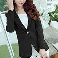 2016 summer blazer ladies workwear suit jackets candy green rose red dots cuffs one button blazer feminino women