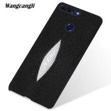 wangcnagli Custom pearl leather phone case For HUAWEI honor V9 half-pack mobile