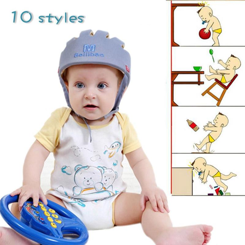 Safety Helmet For Babies head Protective Anti-collision hat caps Toddler Anti-collision Headguard Head Security Protection B4 black white plaid pvc thickened waterproof wallpaper modern living room kitchen wall decor vinyl wall paper roll papel de parede