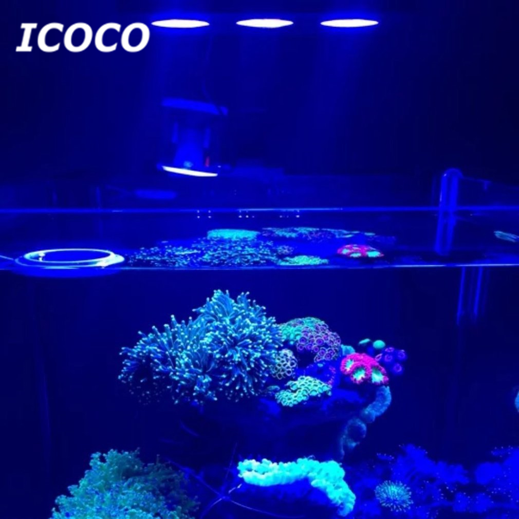 ICOCO LED Aquarium Light 30W Indoor Aquarium LED Light Saltwater Lighting with Touch Control for Coral Reef Fish Tank 100w lumia 5 1 diy aquarium led light sunrise sunset dimmable led aquarium light 100w remote auto dim coral reef led lighting