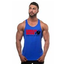 New shelves bodybuilding vest gorilla gym sleeveless shirt mens fitness sportswear exercise