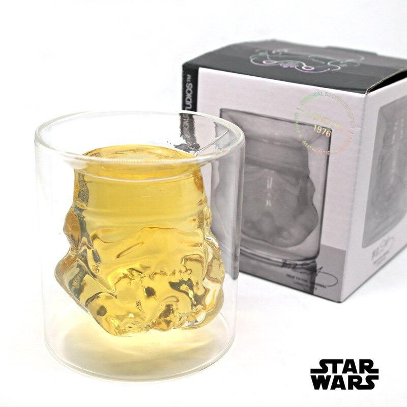 Star Wars Stormtrooper Double Bière En Verre Tasses de thé tasse de bière creative verres avec boîte-cadeau
