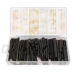 450pcs/set Split Spring Roll Pin Assortment Kit Black Fastener Accessory cylindrical Cotter Dowel Tension Roll Hollow Pin deuvel
