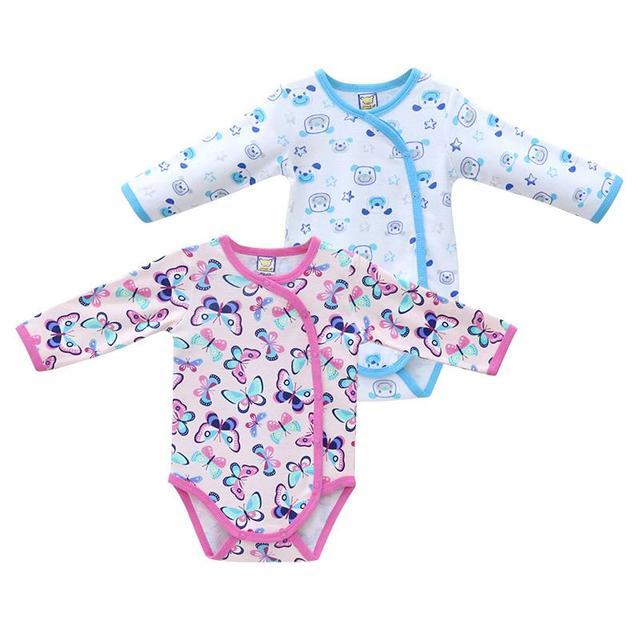 Meninos e Meninas 0-18 Meses Nascidos Bodysuits Newborn Primavera e Roupas de Outono Novo Estilo de Roupas de Natal