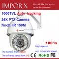 1000TVL câmera De Monitoramento Automático de PTZ Câmera dome de Alta Velocidade com 36X zoom à prova d' água