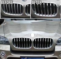 CHROME CHROME FRONT MESH GRILL GRILLE COVER TRIM INSERT FIT FOR 2008 2009 2010 2011 2012 2013 BMW X5 E70 3 Department