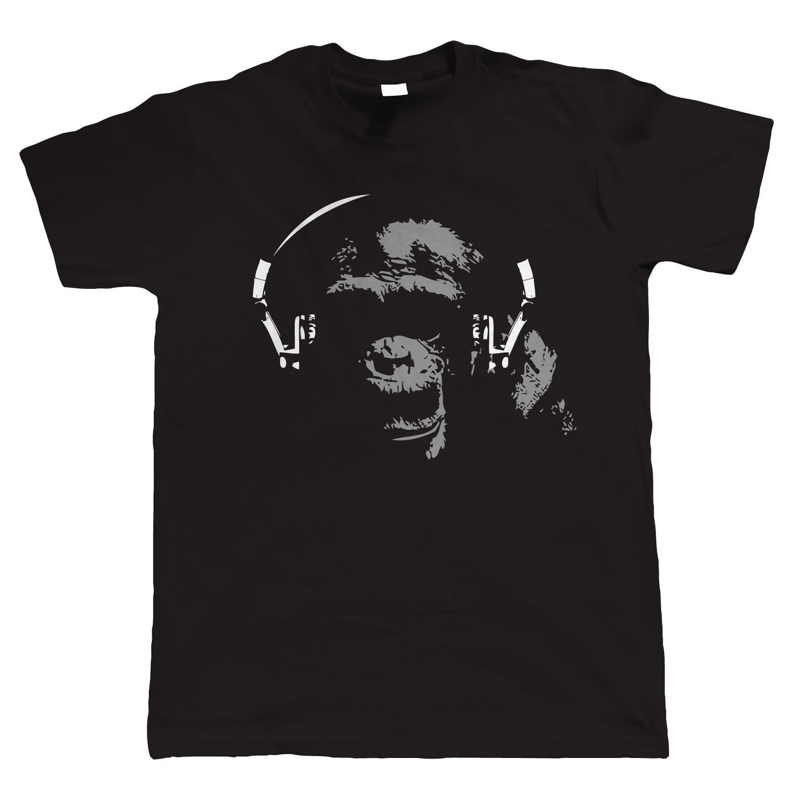 Chimp DJ, Mens Audiophile T Shirt - Vinyl Record Hi-Fi, Gift